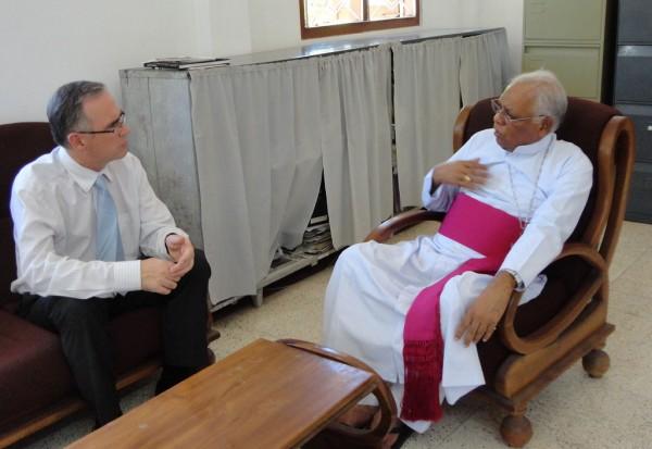 UK High Commissioner in discussion with Mannar Bishop Rev. Rayappu Joseph ~ (June 2012) ~ pic: UKinSriLanka