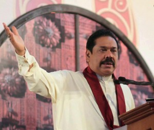 President Mahinda Rajapaksa at the opening ceremony if an Exhibition in Ampara, Mar 23, 2013