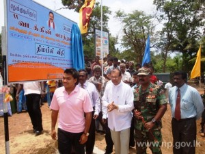 Mullaithivu area road contraction & development work-pic  courtesy of: Northern Provincial Council.lk