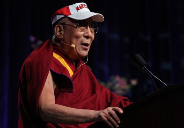 The Dalai Lama spoke to a crowd of about 15,000 students, faculty, and guests as part of the Anwar Sadat Lecture for Peace on May 7th, 2013 – pic by James Levin courtesy: Diamondback-University of Maryland