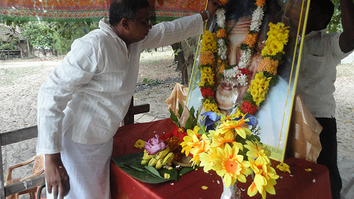 M.A. Sumanthiran MP paying tribute to S.J.V. Chelvanayagam in Batticaloa~May 2013