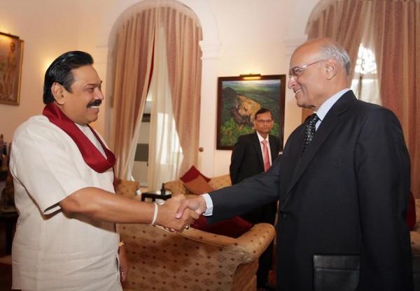 President Mahinda Rajapaksa met India's National Security Advisor Mr. Shivshankar Menon, July 8, 2013-news.lk