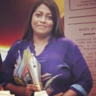 Sunday Leader Associate Editor Mandana Ismail Abeywickrema won the Columnist of the Year award at the Journalism Awards of Excellence 2012 held on 30th of July 2013-pic Sundayleader.lk