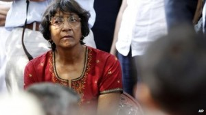 High Commissioner Ms. Navi Pillay in Mullyvaaykkaal-Aug 27, 2013-pic courtesy of: BBC