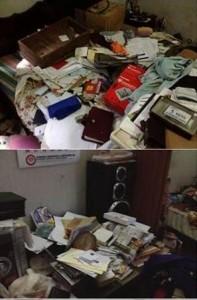 Ransacked home-pic courtesy: LankaENews