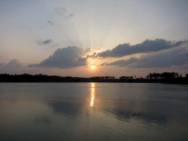 Sunset Over Lagoon, Jaffna-pic: Indi Samarajiva