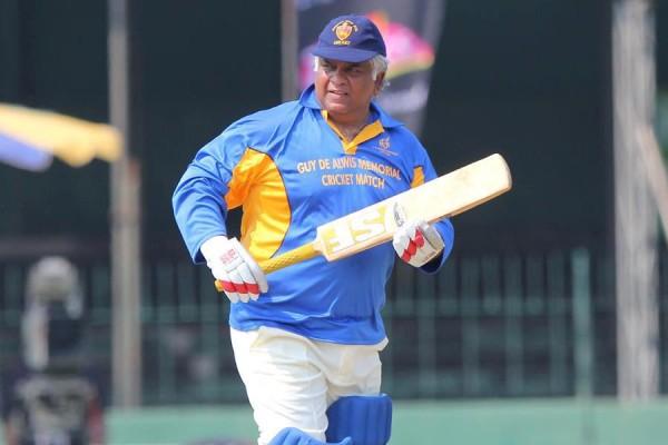 At the Guy de Alwis memorial cricket match-Apr 2013-pic: facebook.com/Official.Arjuna.Ranatunga