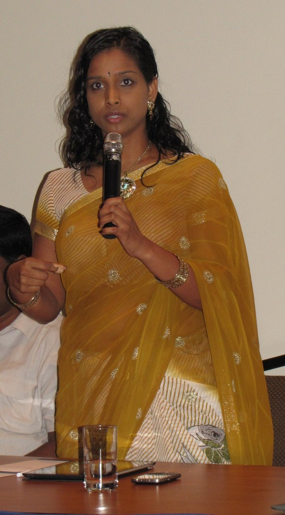 Rathika Sitsabaiesan MP at an event in Toronto-July, 2013