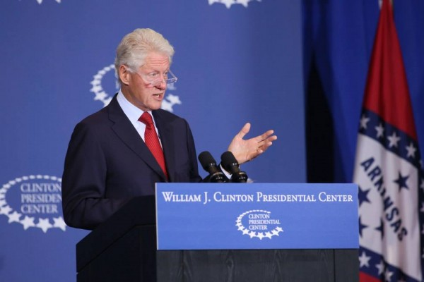 On September 4, 2013, President Bill Clinton gives remarks from the Clinton Presidential Center in Little Rock, Arkansas, on the critical role a high quality, affordable and accessible health care system plays in the United States-pic courtesy of:facebook.com/billclinton