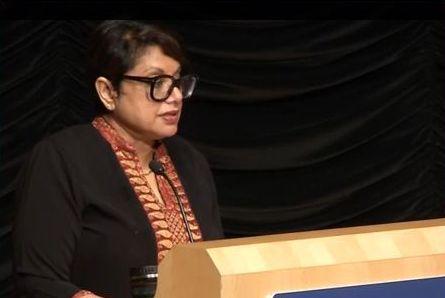 Dr.Radhika Coomaraswamy delivering Prestigious Grotius lecture, April 9. 2014
