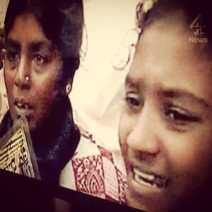 Jeyakumari and daughter Vibhooshika at a campaign for disappeared-pic courtesy of: Channel 4