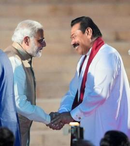 India's PM Narendra and former President Mahinda Rajapaksa-May 2014