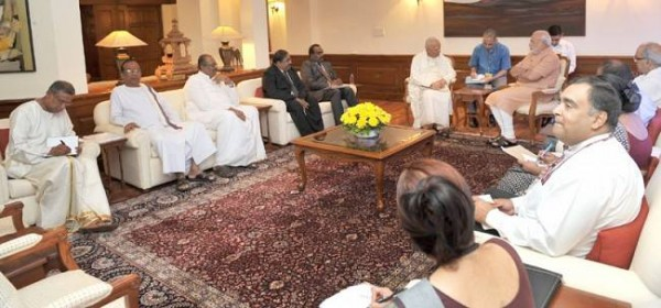 Tamil National Alliance (TNA) Delegation meeting with Indian Prime Minister Narendra Modi-Aug 23, 2014-pic: courtesy of Australian Tamil Congress