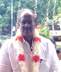 """Maavai"" Senathirajah at the Convention venue in Vavuniya"