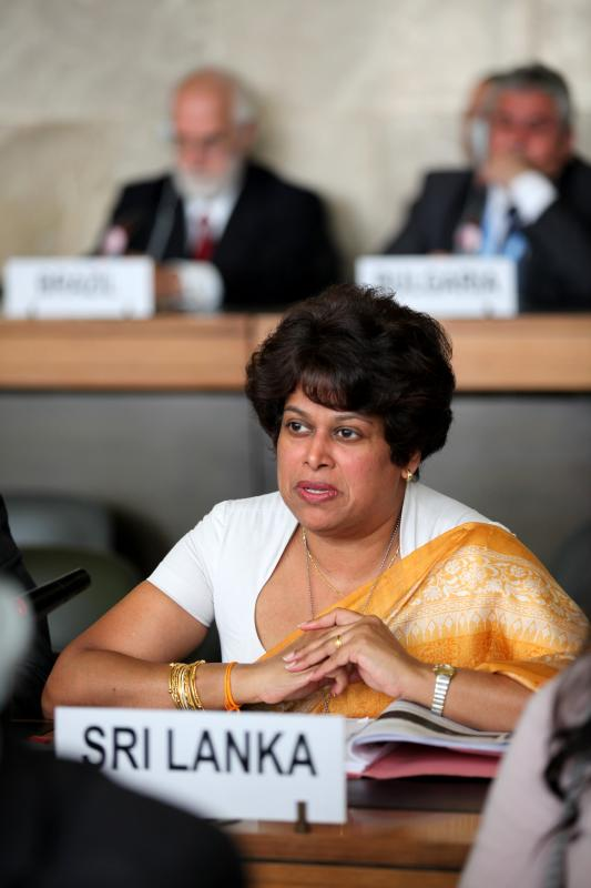 Ms. Kshenuka Seneviratne At Conference on Disarmament-April 2011-pic by: UN photo/Pierre Albouy