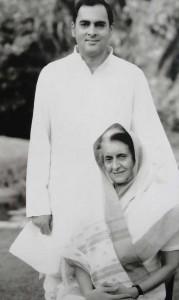 Rajiv Gandhi & Indira Gandhi