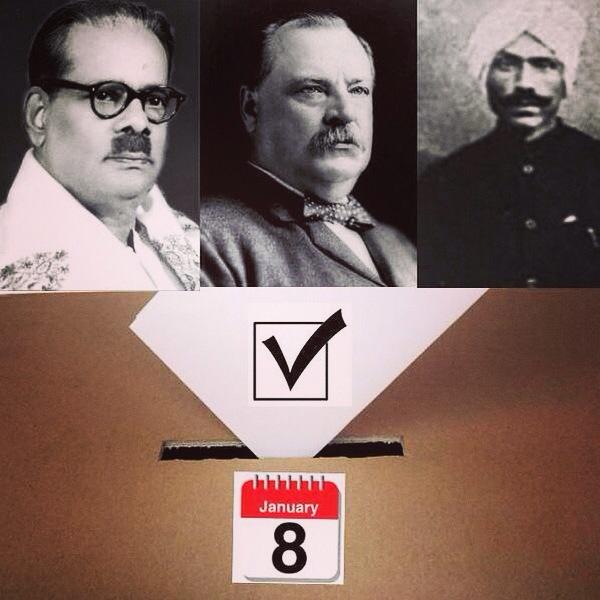 Paaventhar Bharathithasan, Grover Cleveland and Subramaniya Bharathiyaar