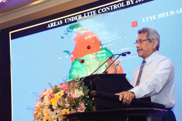 Secretary Defence and Urban Development Mr. Gotabaya Rajapaksa attended as a special guest speaker at the MOMEMTUM-pic: defence.lk