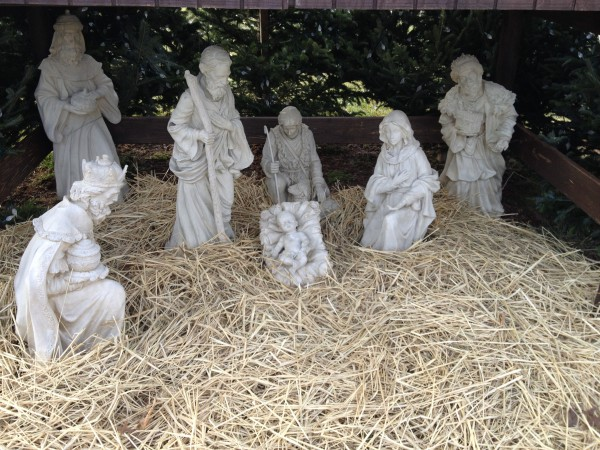 Nativity scene at Saint Augustine of Canterbury - Roman Catholic Church, Franklin Park, New Jersey