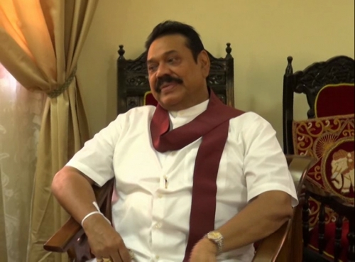 Ex-President Mahinda Rajapaksa in Kandy-Jan 20, 2015-pic courtesy: TamilWin