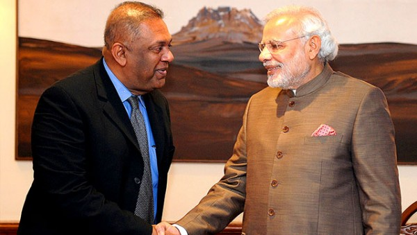 Foreign Affairs Minister Mangala Samaraweera - meets Prime Minister Narendra Modi