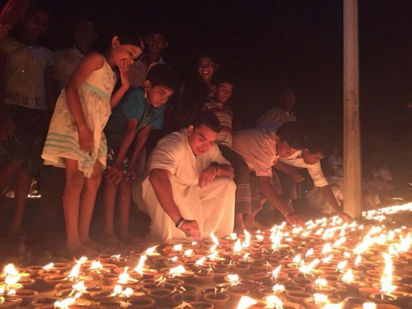 At the 84,000 pahan poojawa in Kataragama-Feb 22, pic: twitter.com/RajapaksaNamal