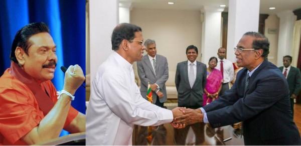 ex-President Mahinda Rajapaksa, President Maithripala Sirisena &  Chief Justice K. Sripavan