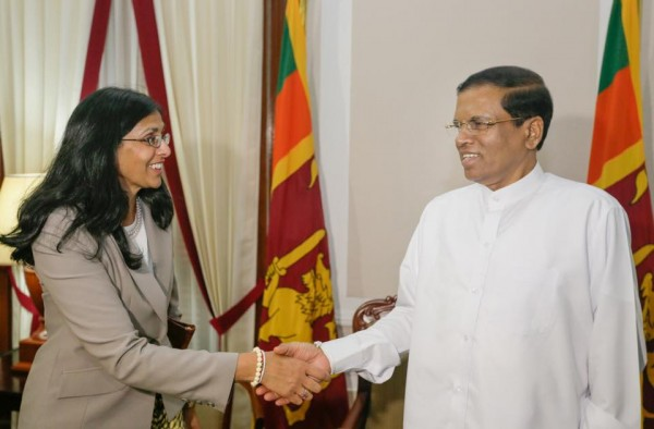 Assistant Secretary of State for South and Central Asia U.S. Department of State, Mrs. Nisha Biswal, called on President Maithripala Sirisena on Feb 2 at the Presidential Secretariat.