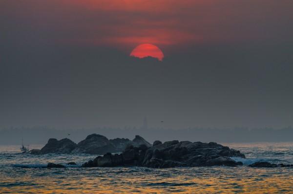 Sunrise at Polhena, Matara, Sri Lanka. A place where we see both sunrise and sunset-Pic by: uditha wickramanayaka
