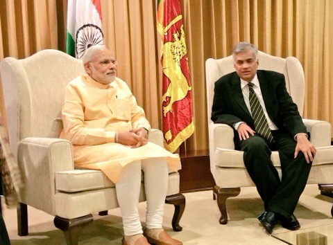Prime Ministers - Narendra Modi & Ranil Wickremesinghe