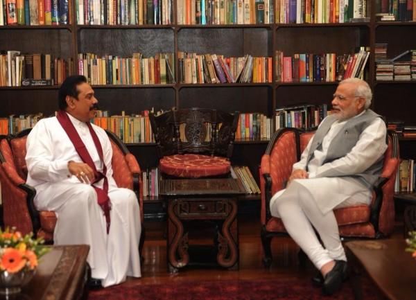 Fromer Presiodent Mahinda Rajapaksa meeting PM Narendra Modi-Mar 14, 2015