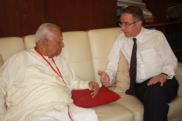 pic via: @UKinSriLanka: HC John Rankin and TNA Leader R. Sampanthan discussed recent political developments & positive prospects for Sri #Lanka-on Mar 18. 2015