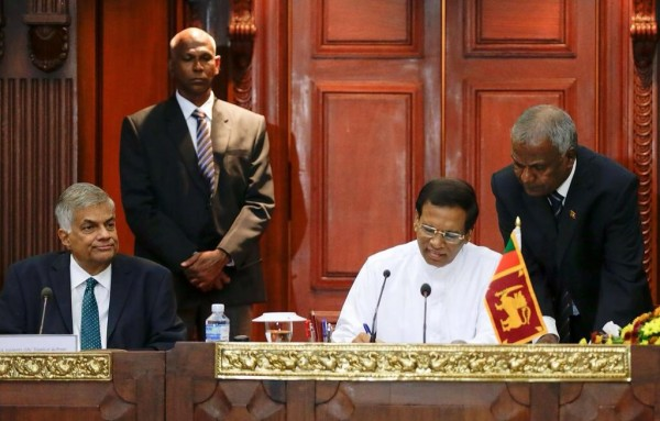 President Maithripala  Sirisena assumed  duties at Presidential Secretariat- on January 15, 2015