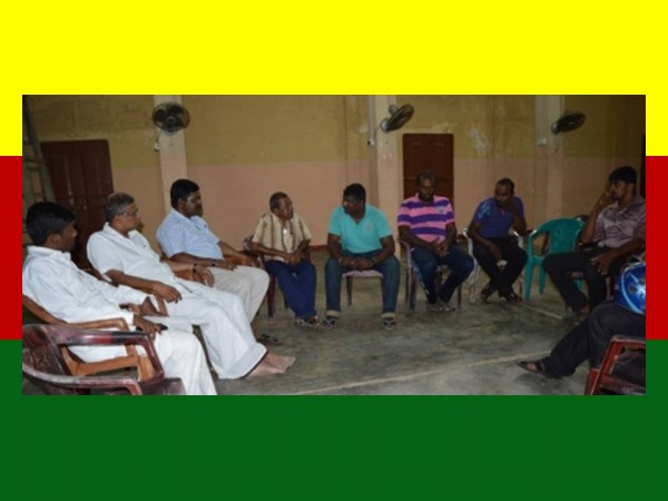 Discussions near Point Pedro Sivan temple, Mar 4
