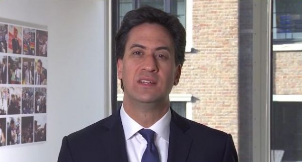 British Labour leader Ed Miliband