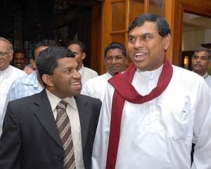 Pillaiyan with Basil Rajapaksa