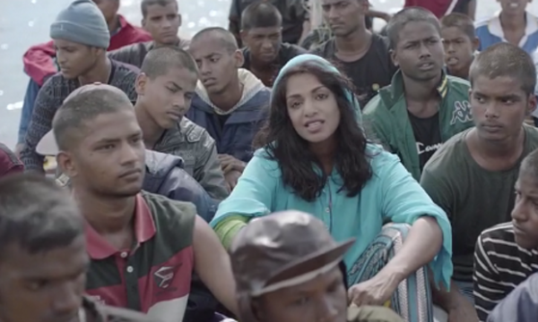 MIA in a scene from her video for Borders. Photograph: iTunes