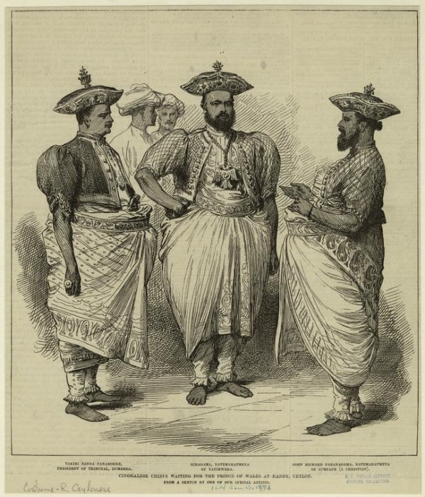 """""""Cinghalese Chiefs Waiting For The Prince Of Wales At Kandy, Ceylon""""-Pic via: New York Public Library"""