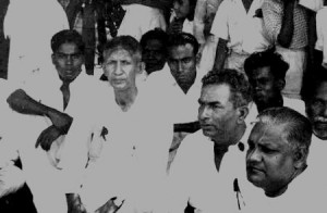 Chelvanayagam at a Satyagraha