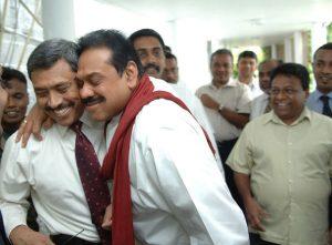 President Manhinda Rajapaksa and Gotabhaya Rajapaksa