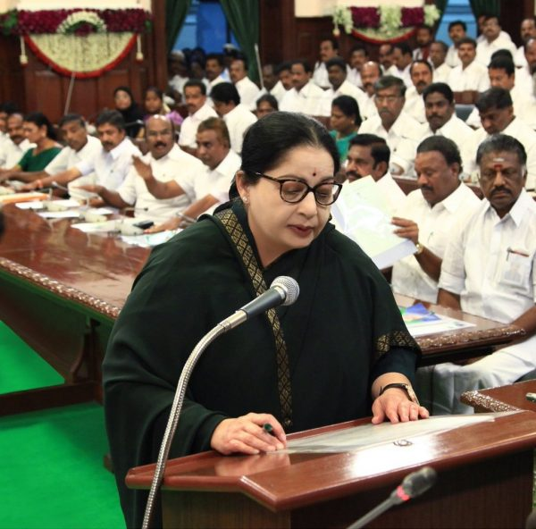 Newly elected Chief Minster J.Jayalalithaa at at the State Legislature ~ May 25, 2016