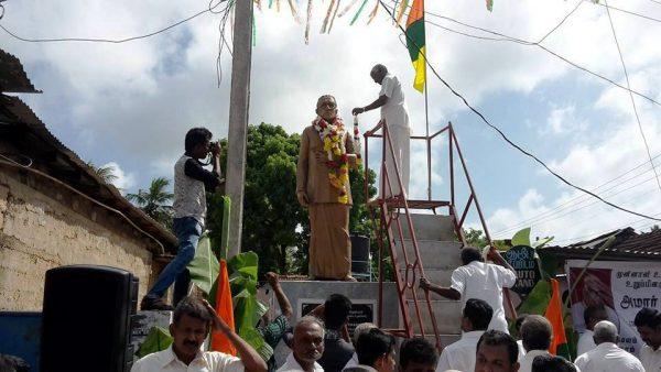 People of Karaveddy commomerating M. Sivasithamparam ~  pic via: facebook.com/sugeerthan