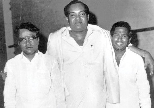 """(l) to (R) ~ TK Ramamurthy, """"Kavingar"""" Kannadasan & MS Viswanthan"""