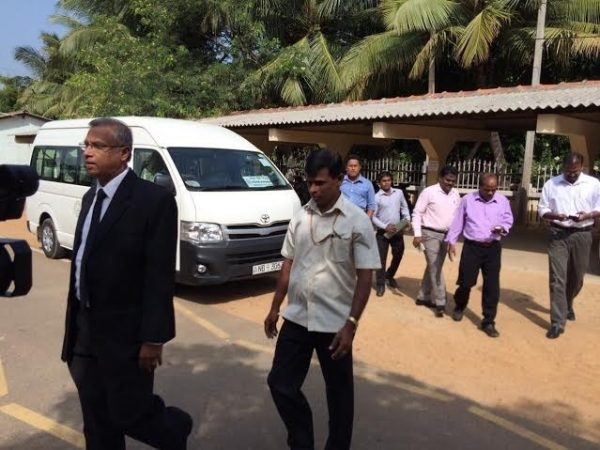 """TNA Parliamentarian MA Sumanthiran appeared in court for Sasitharan and sought bail"" ~ Pic via: @ejyshaliny"